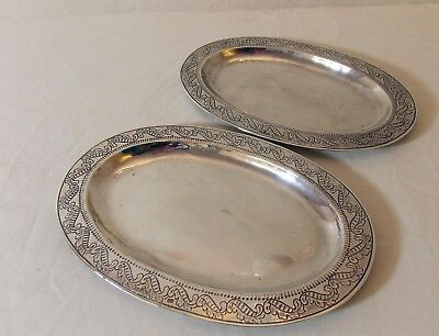 Pair Fine Spanish Colonial Silver Dishes 18th Century Guatemala City Santiago