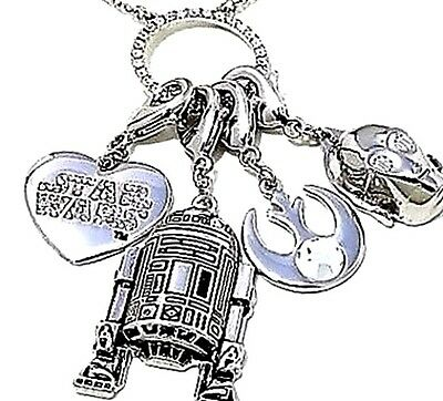 STAR WARS  The Light Side Necklace with 4 Removable Charms