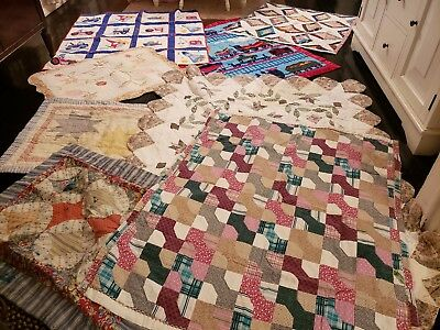Quilt 002 | 8 Vintage Patchwork Quilts and throws Beautiful
