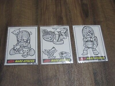 Topps Mars Heritage 2012 3 Locoduck Pets Sketch cards