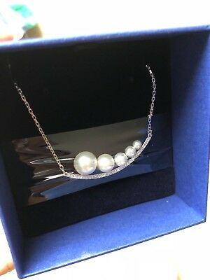 Swarovski Fundamental Necklace, White, Rhodium plating #5274299