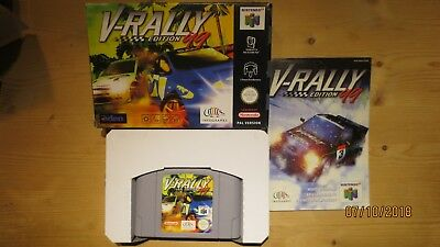 V-Rally 99 Edition for Nintendo 64 N64. Boxed with Manual. Pal