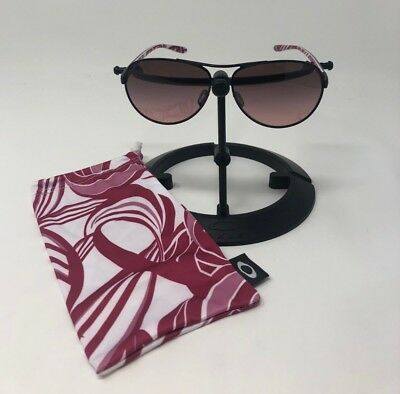 Authentic Oakley Feedback Breast Cancer Aviator Women's Sunglasses OO4079-13