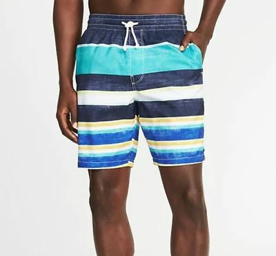 bbc2e5e888 NWT OLD NAVY Teal Blue Floral Swim Trunks Above Knee 8