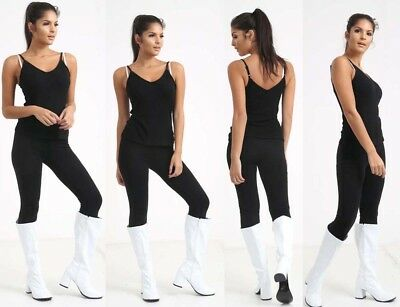 Womens Ladies Fancy Dress Party GOGO Boots - 60s & 70s Party Sizes UK3 TO 8