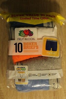 NEW Fruit of the Loom 10 Pack Boy's Tag Free Boxer Briefs