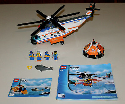 Lego City 7738 Coast Guard Helicopter Minfigs 2495 Picclick