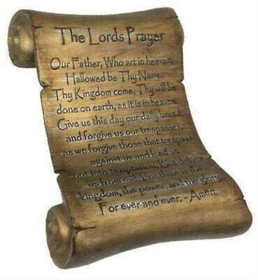 The Lords Prayer Inspirational Scroll Wall Art Plaque - Large