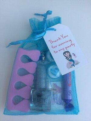 Mermaid Birthday Pamper Sleepover Party Pre-Filled Gift Bags FREE DELIVERY
