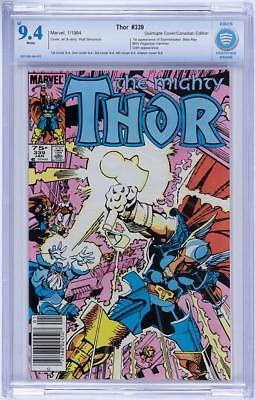 THOR 339. 75 CENT CANADIAN VARIANT! CBCS 9.4. Quintuple cover variant! 5 covers!