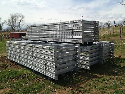 60 pices of  14' x 44'' Tall USED Commercial RIDG-U-RAK Pallet Rack