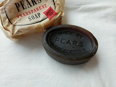 Vintage Pears Transparent Soap Bar OLD English Original Advertising Paper Wrap