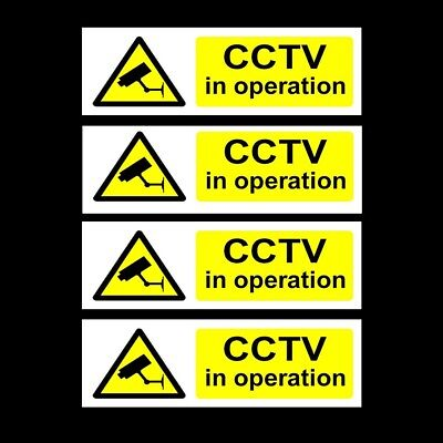 CCTV Pack of 4 Security, Camera, Warning Sign / Sticker - Unbeaten Price