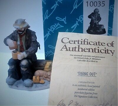 Flambro Miniature Emmett Kelly Jr Signature Collection **DINING OUT**