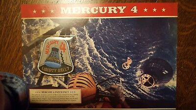 Mercury 4 commemorative cloth patch and info card