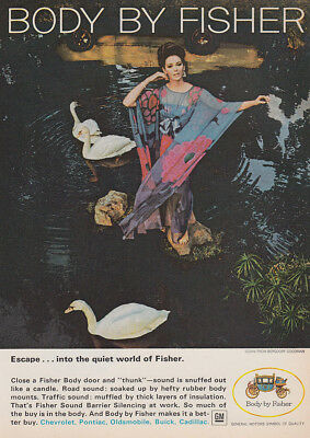 1966 Body by Fisher: Escape Into the Quiet World Vintage Print Ad