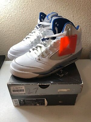 finest selection ae35a 17879 New 2006 Nike Air Jordan V 5 Retro WHITE ROYAL BLUE STEALTH GREY 136027-142