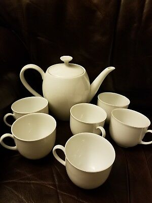 Made in Germany Porcelain holiday tea set tea pot and six cups  made in Germany