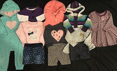 Baby Girl 12 Months Clothes Lot. Fall Winter Outfits. H&M *FREE SHIPPING*