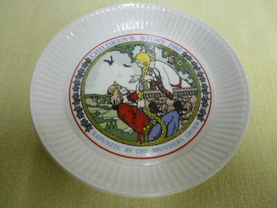 """Wedgwood Children's Story 1980 Collector Plate Rapunzel The Brothers Grimm 6"""""""