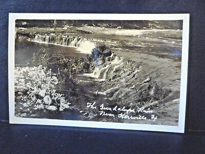 RPPC Kerrville, Texas TX Guadalupe River - Real Photo