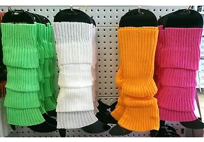 1980s 80s Party Leg Warmers Legging Chuck Knitted Women Costume Dance Fluro