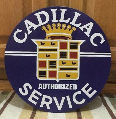 Cadillac Service Metal Wall Decor GMC CTS V STS Deville Garage Gas Oil Man Cave