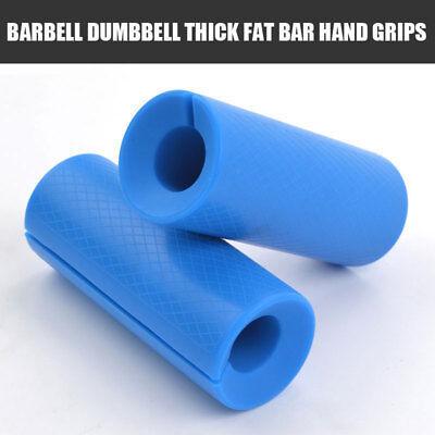 Barbell Dumbbell Thick Fat Bar Hand Grips Fitness Exercise Gripz for Home & Gym