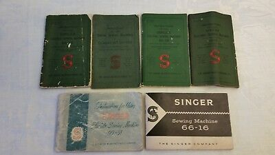 Vintage INSTRUCTION BOOK for SINGER  SEWING MACHINE Choice one