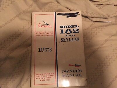 cessna  1972 model 182 and skylane airplane owners manual