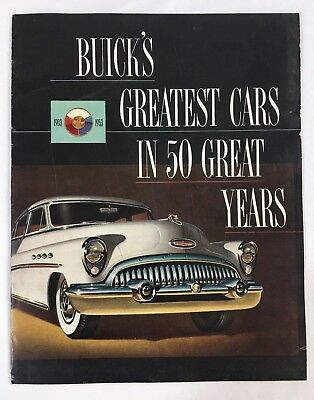 Original 1953 Buick's Greatest Cars In 50 Great Years Sales Brochure