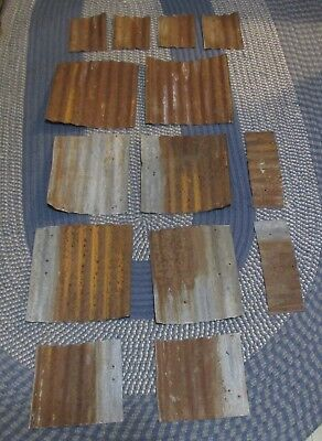 Vintage Rusted Tin Roof Barn  Corrugated Metal Arts & Crafts Garden Signs Cabin
