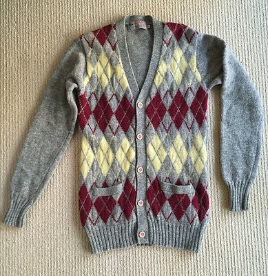 Vintage knit cardigan, grey - purchased in Paris - size S