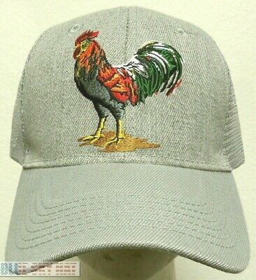 b69035656a534 Fowl Rooster Chicken Cock Farm Game American Mexico Mexican Trucker Mesh Cap  Hat