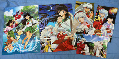 INU YASHA Lot of 8 Posters, Booklet, Stickers