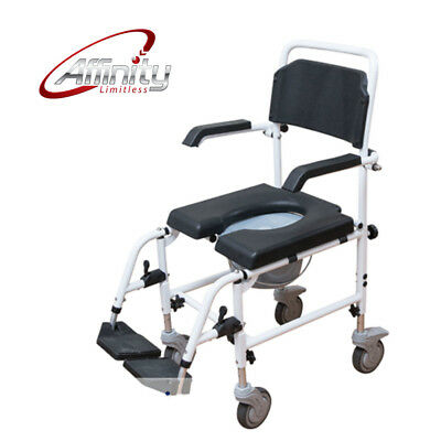 Affinity   Attendant-propelled Shower Chair / Commode Aluminium Fold-up Footrest