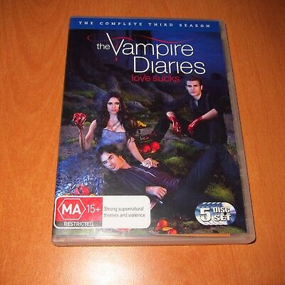 The Vampire Diaries : The Complete Season 3 ( Dvd , 5 Disc Set Region 4 )