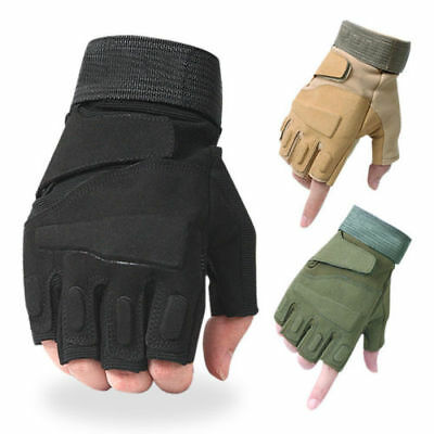 Tactical Half Finger Gloves Men's CS Army Military Combat Special Ops Fingerless