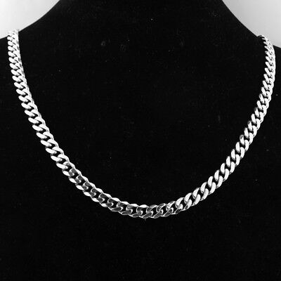 Stainless Steel Cuban Link Curb Chain Necklace Men or Woman Party Jewelry Gift