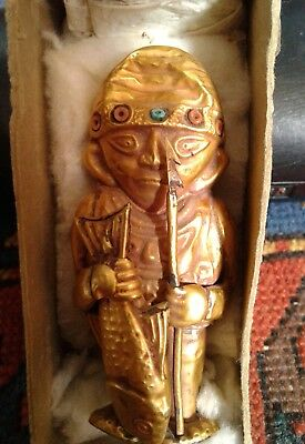 Inca Chimu GOLD STATUE South America Rare Old Folded & Soldered Gold Sheets