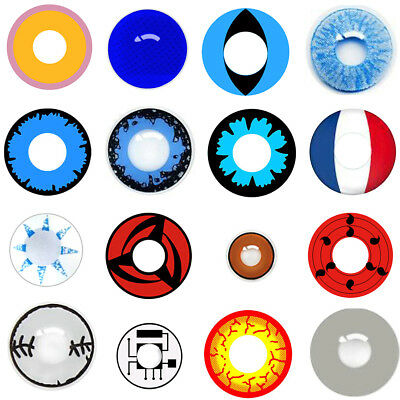 Colorful Contact Lenses Unisex Round Eyes Makeup Party Cosplay Novità