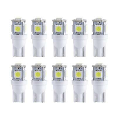 10x 5 LED/smd Per Bulb 12V DC Car Light Replacement 194 T10 T5 Wedge Base White