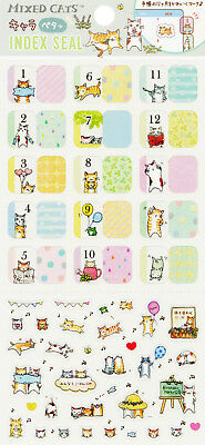 San-X Mixed Cats Index / Schedule Stickers