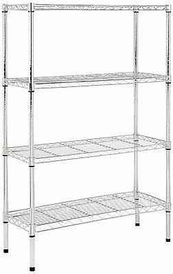 Heavy Duty Shelving Unit Chrome One Single Shelf Wire Shelves Adjustable Durable