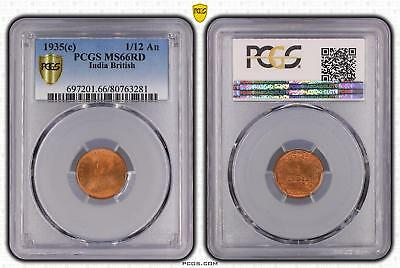 1935c India British 1/12 An PCGS GRADED - MS66RD - #281