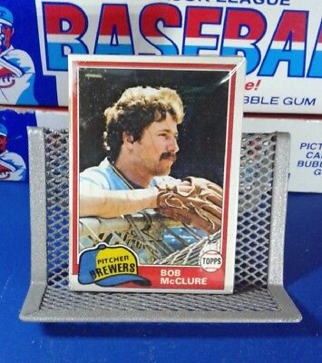 Unopened Topps Baseball Cards 1981 Cello Pack - Bob McClure - Free Shipping