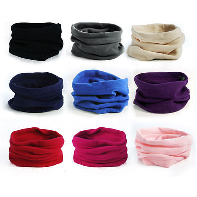 Winter Fleece Scarf Neck Tube Warmer Men Womens Face Mask Balaclava Beanie Snood
