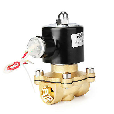 "1/2"" AC110V 120V Electric Solenoid Valve Water Air Gas Viton Normal Closed WH"