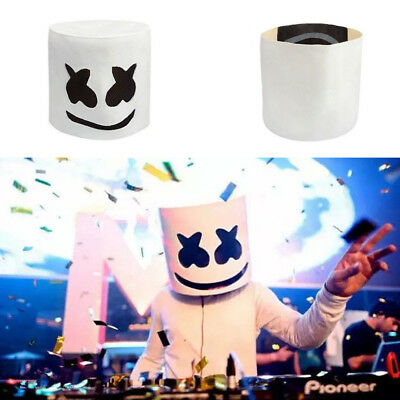 DJ Marshmello White Mask Helmet Cosplay Costume Accessory Hat Gift I5