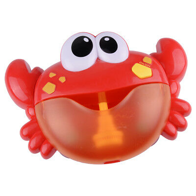 Crab Bubble Music Maker Automated Spout Bubble Machine Bath Shower Kids Toy